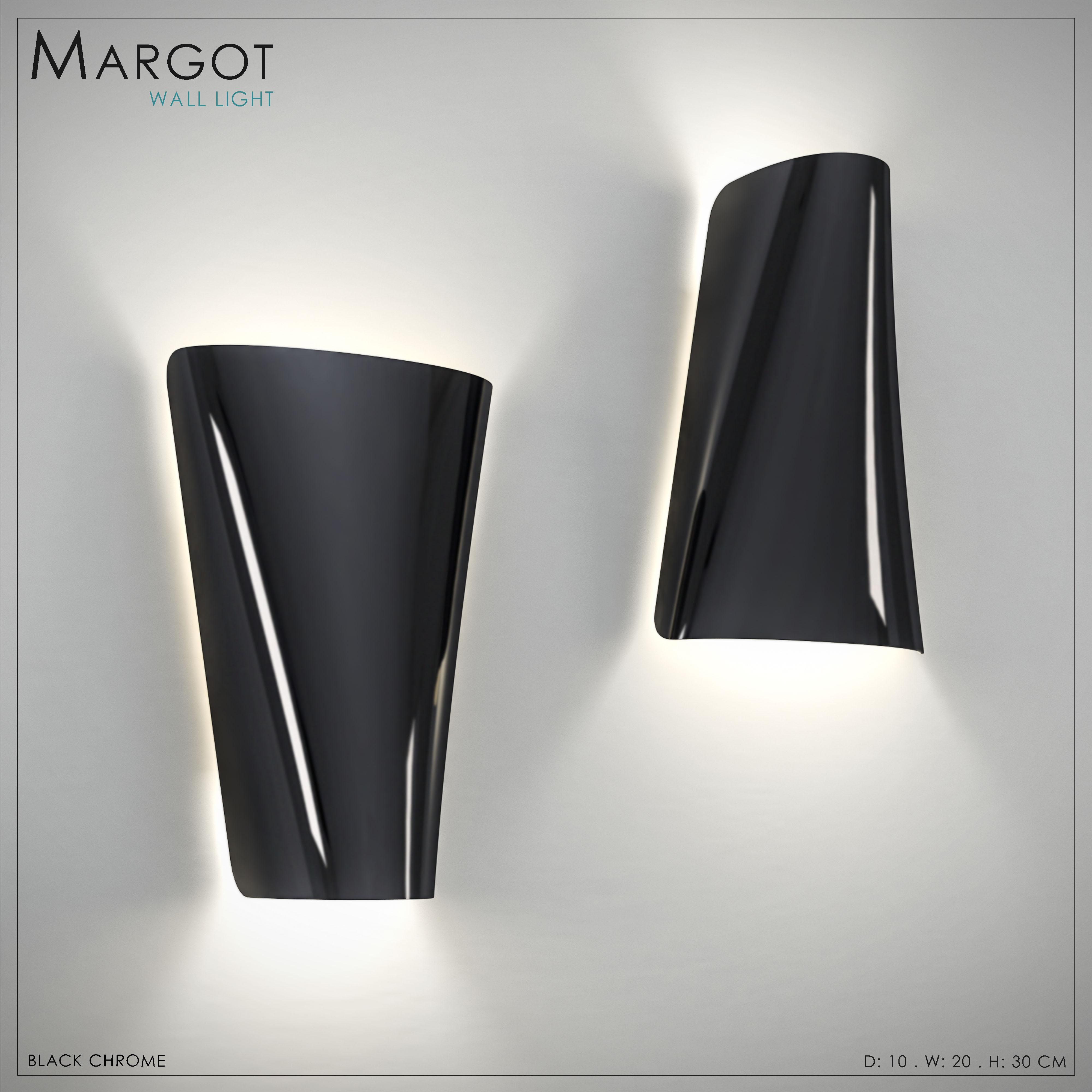 Margot Wall Light metal black noir luxury design